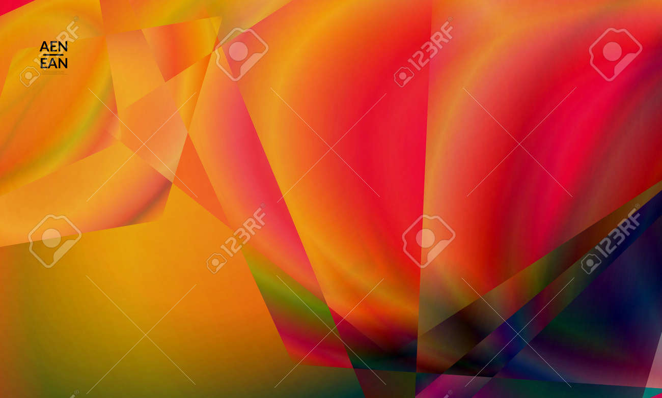 Abstract irregular polygonal background. Multicolored gradient of reflected light in crystal or diamond structure. Fragile sharp shattered ice or glass texture. Ambient light of low poly cubism - 167870448
