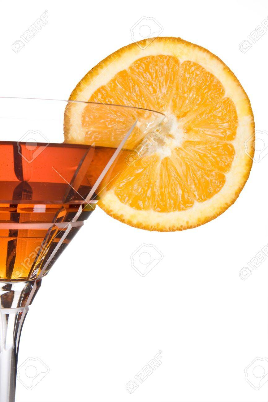 Party drink decorated with a slice of orange Stock Photo - 3727525