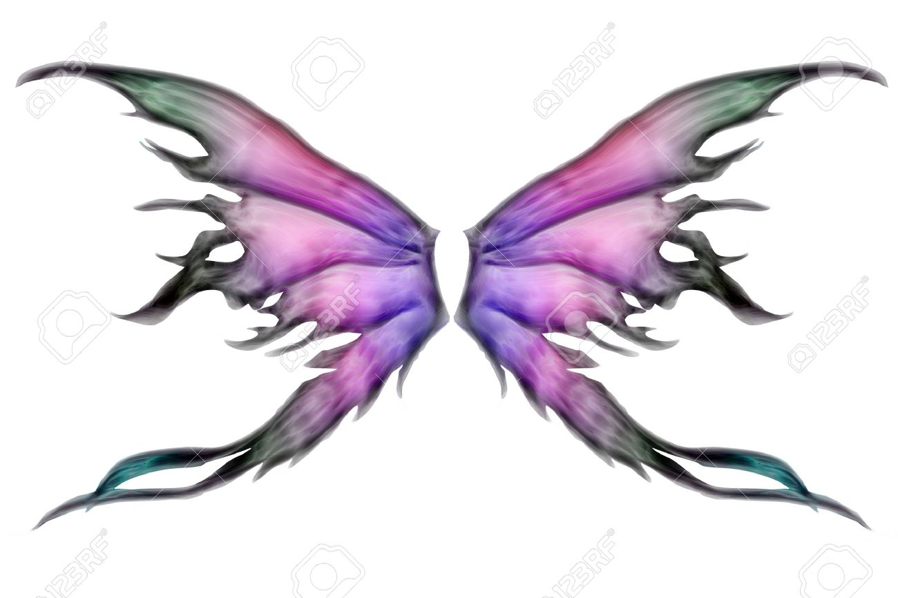 pastel colored set of fairy wings on white stock photo picture