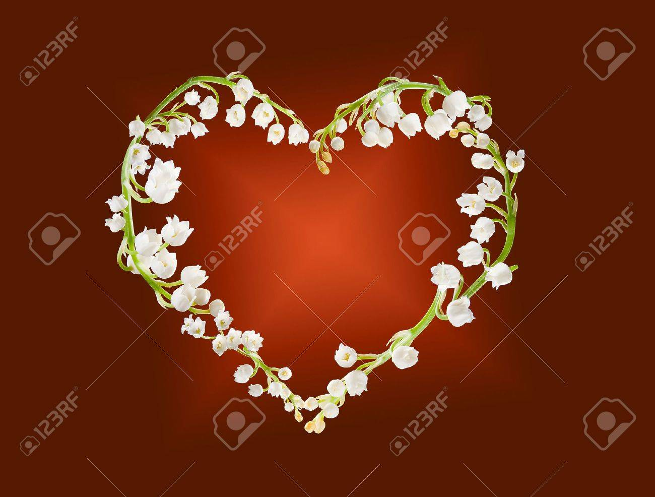 Heart shape made of lilly-of-the-valley flowers Stock Photo - 6169512