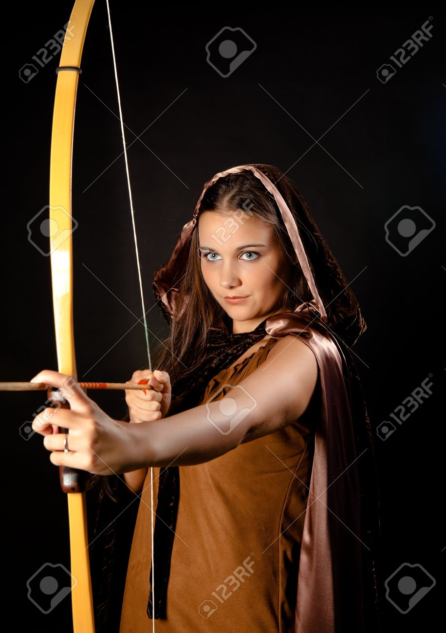 Sagittarius or Archer woman, this photo is part of a series of twelve Zodiac signs of astrology Stock Photo - 11268561