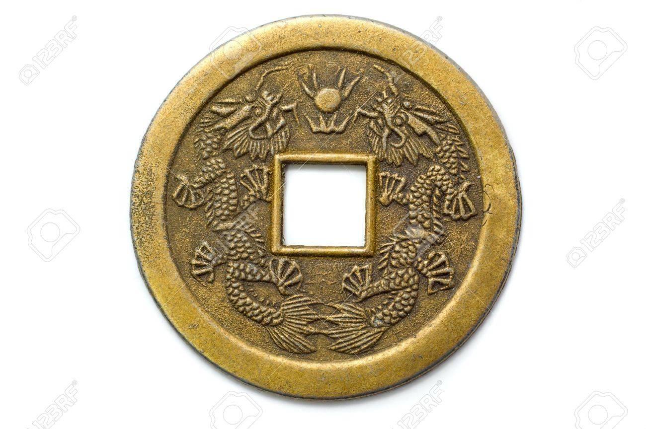 Alten Chinesischen Feng Shui Münze Glück Für Glück Und Erfolg