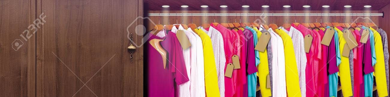 Stock Photo   Wardrobe Closet Clothes And Shoes. Ideal For Advertising,  Cards, Creative Work
