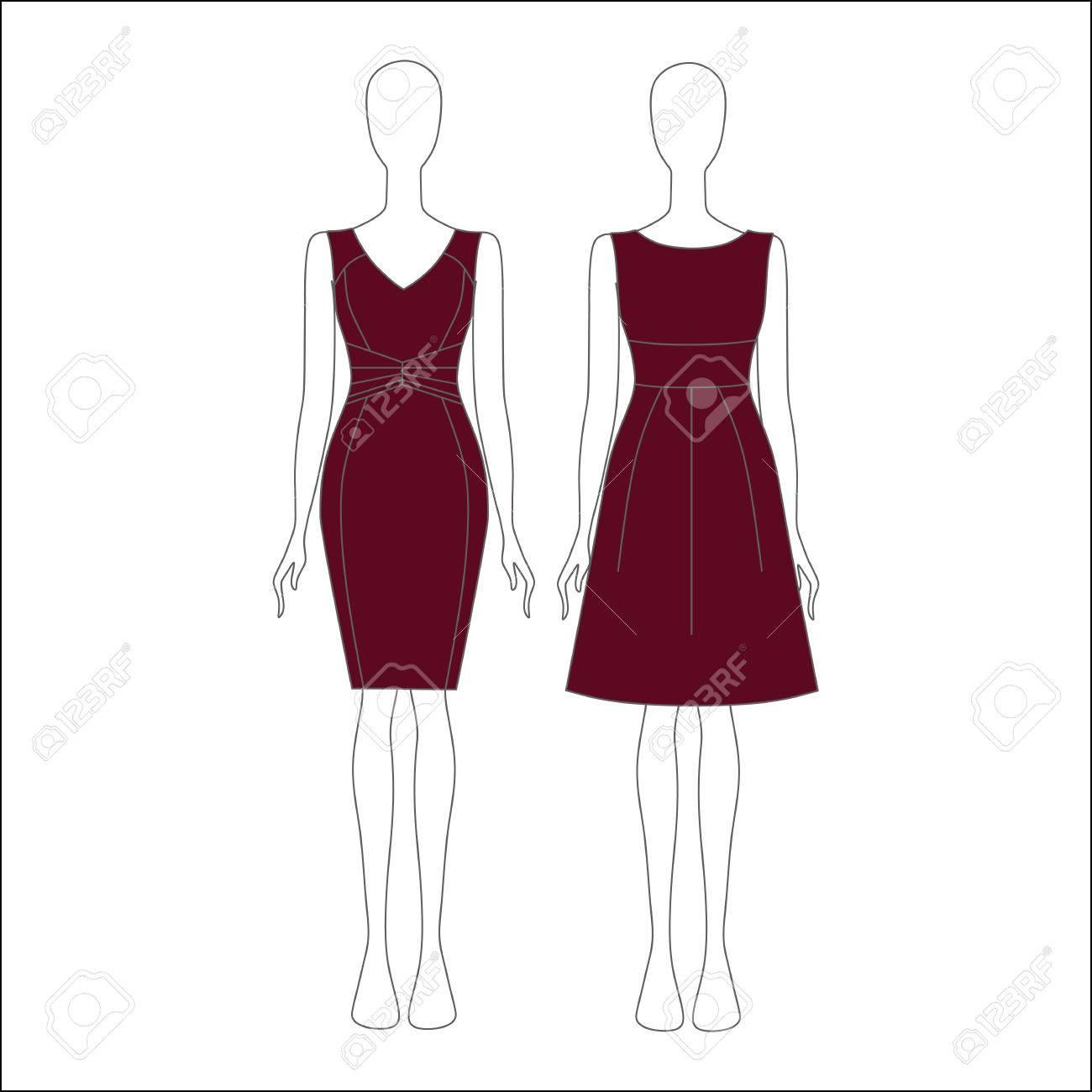 Las Mujeres De Vestir Para Un Día De Fiesta El Vestido De Noche De La Mujer