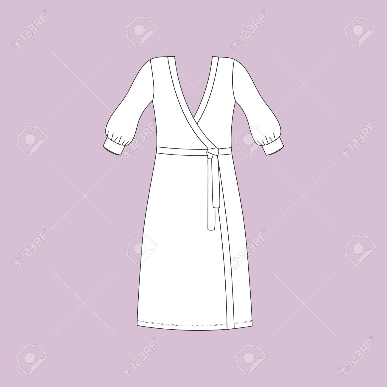 d8d8b45400 Dressing Gowns For Women. Bathrobe Home. Royalty Free Cliparts ...