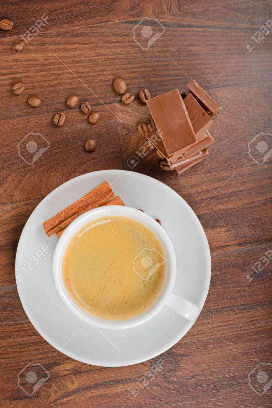 View from above to coffee and chocolate - 32977811