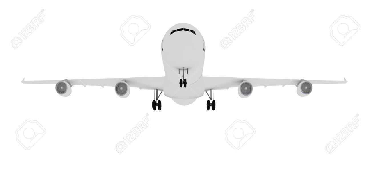 Large white plane. Isolated on white background Stock Photo - 6167857