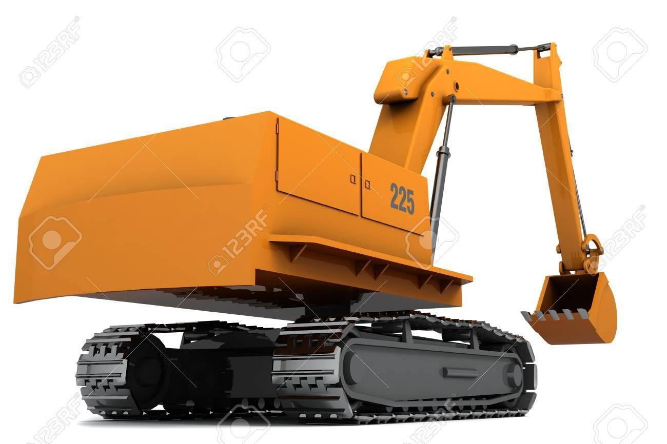 Orange dirty digger isolated on white background Stock Photo - 6357498