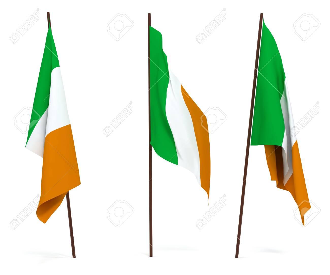 The state flag of Ireland. On white background Stock Photo - 6532794