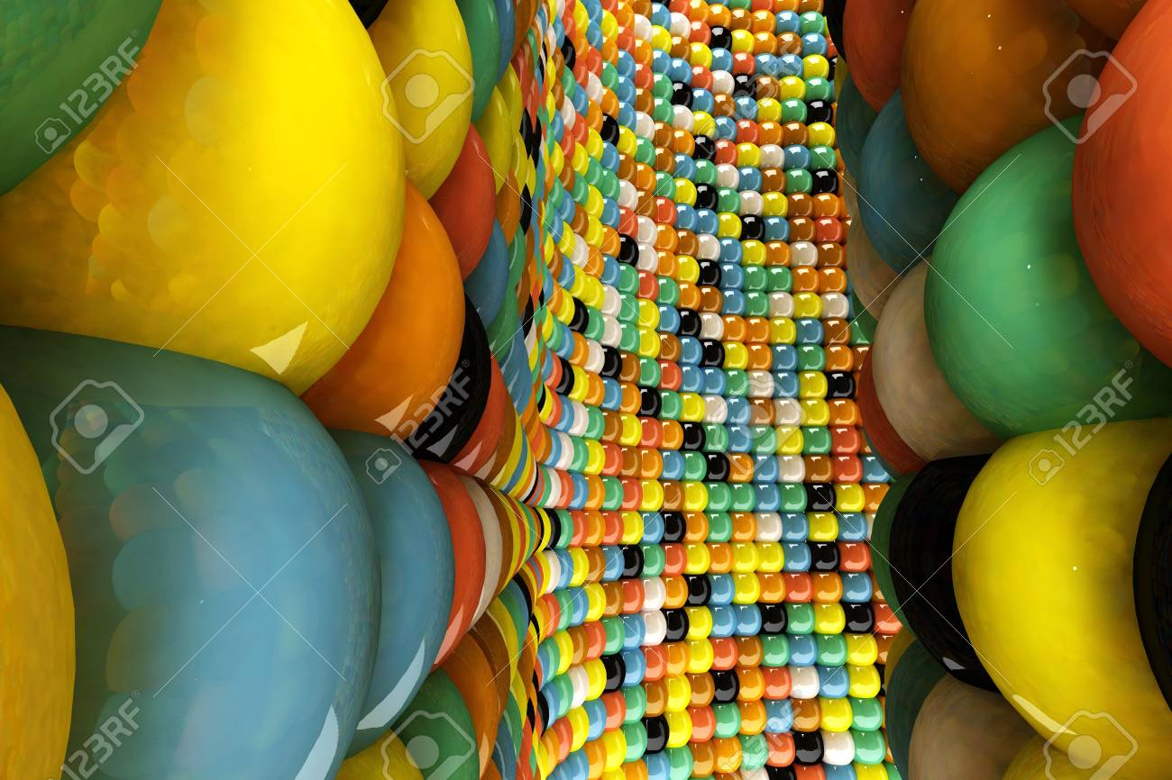 A wall of mosaic in the shape of sphere Stock Photo - 7561841