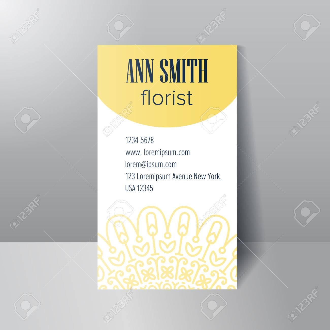 Modle De Carte Visite Pour Fleuriste Fleurs Abstrait