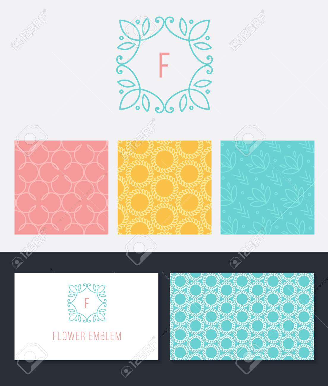 Set Of Graphic Design Elements, Logo Design And Business Card ...