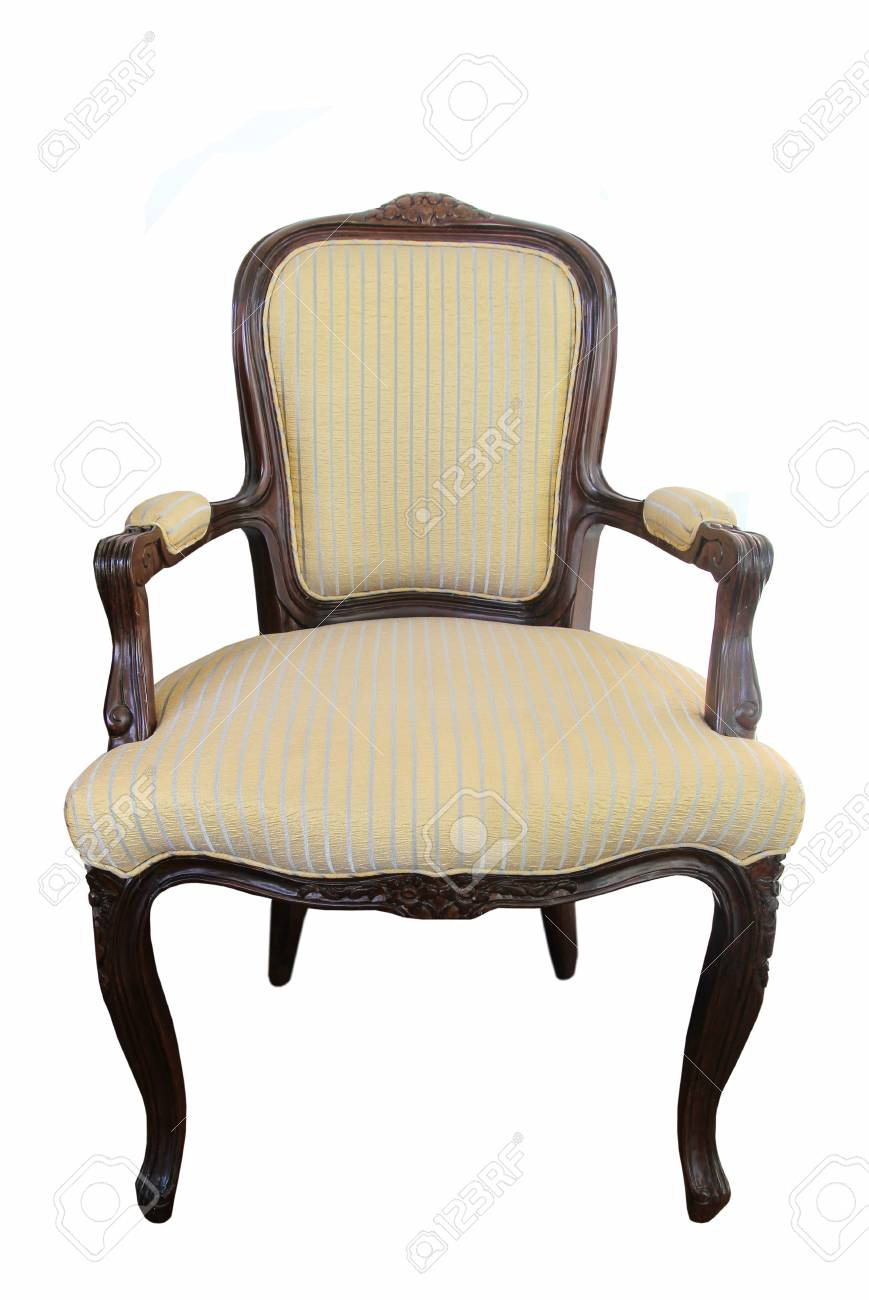 Picture of: Classic Wood Fabric Chair Isolated Stock Photo Picture And Royalty Free Image Image 21094018