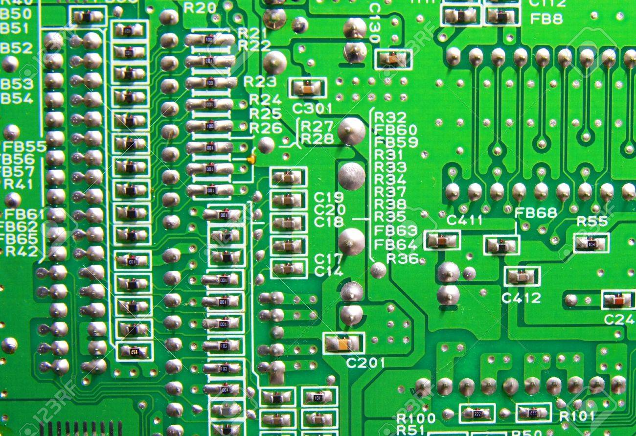 Texture, Green Circuit Board Stock Photo, Picture And Royalty Free ...