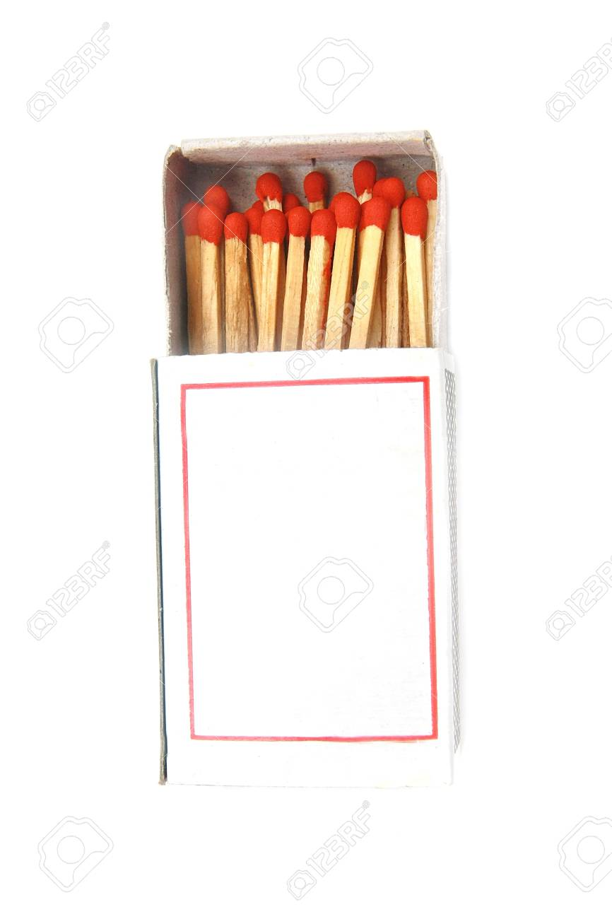 match in a box isolated Stock Photo - 21094061