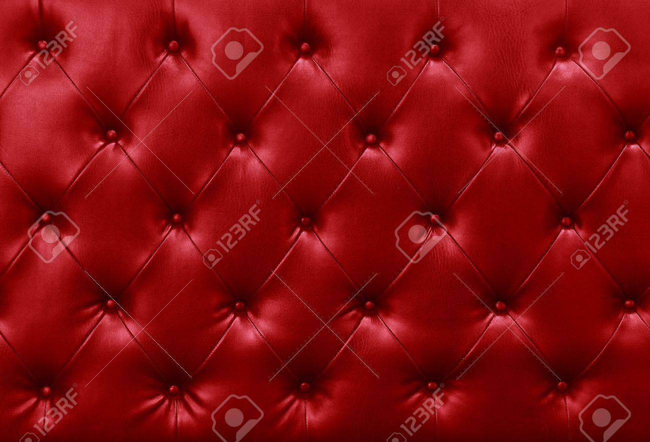 red sofa leather background