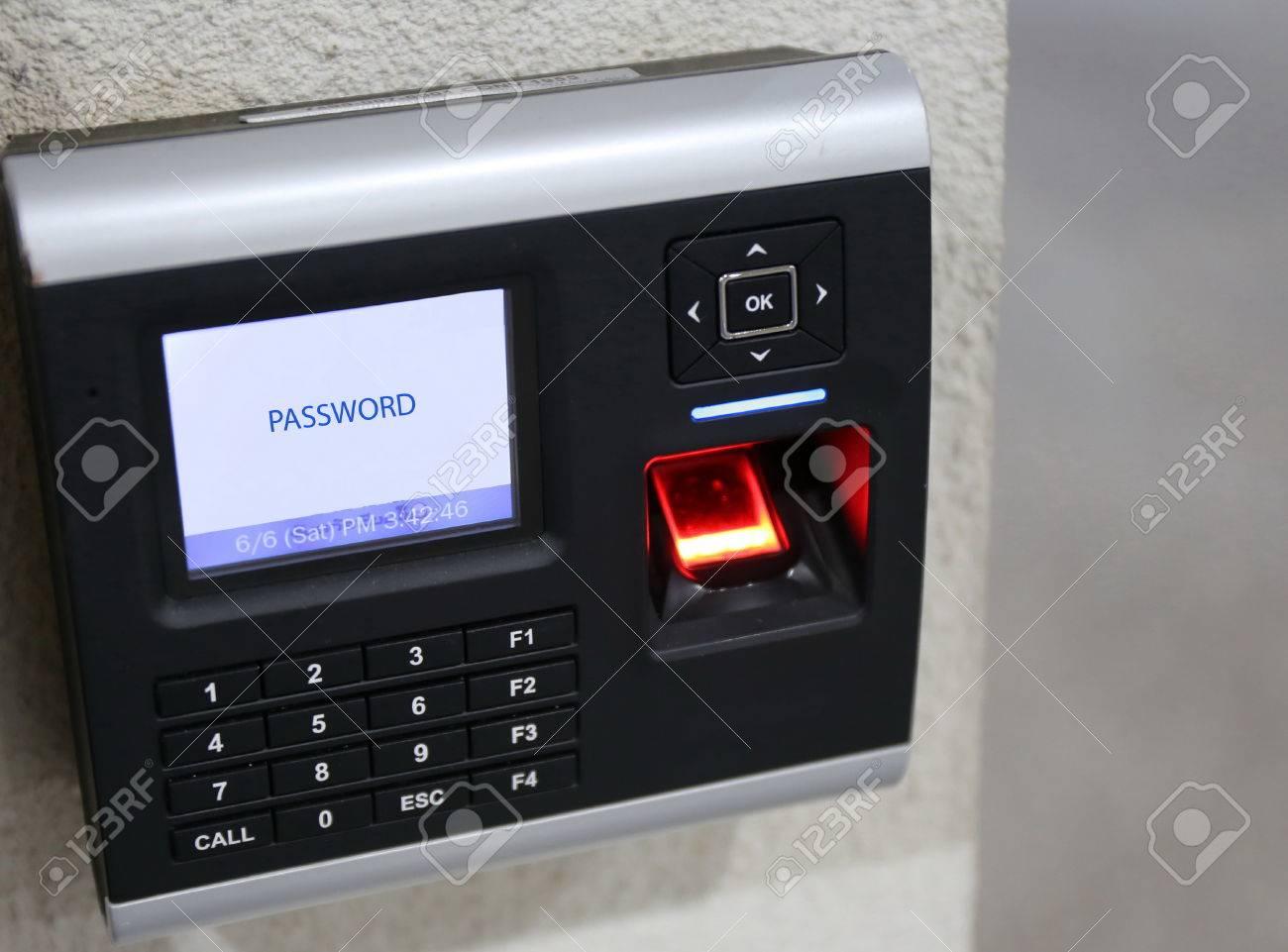 finger scanner for access password door security Stock Photo - 54877851 & Finger Scanner For Access Password Door Security Stock Photo ... pezcame.com