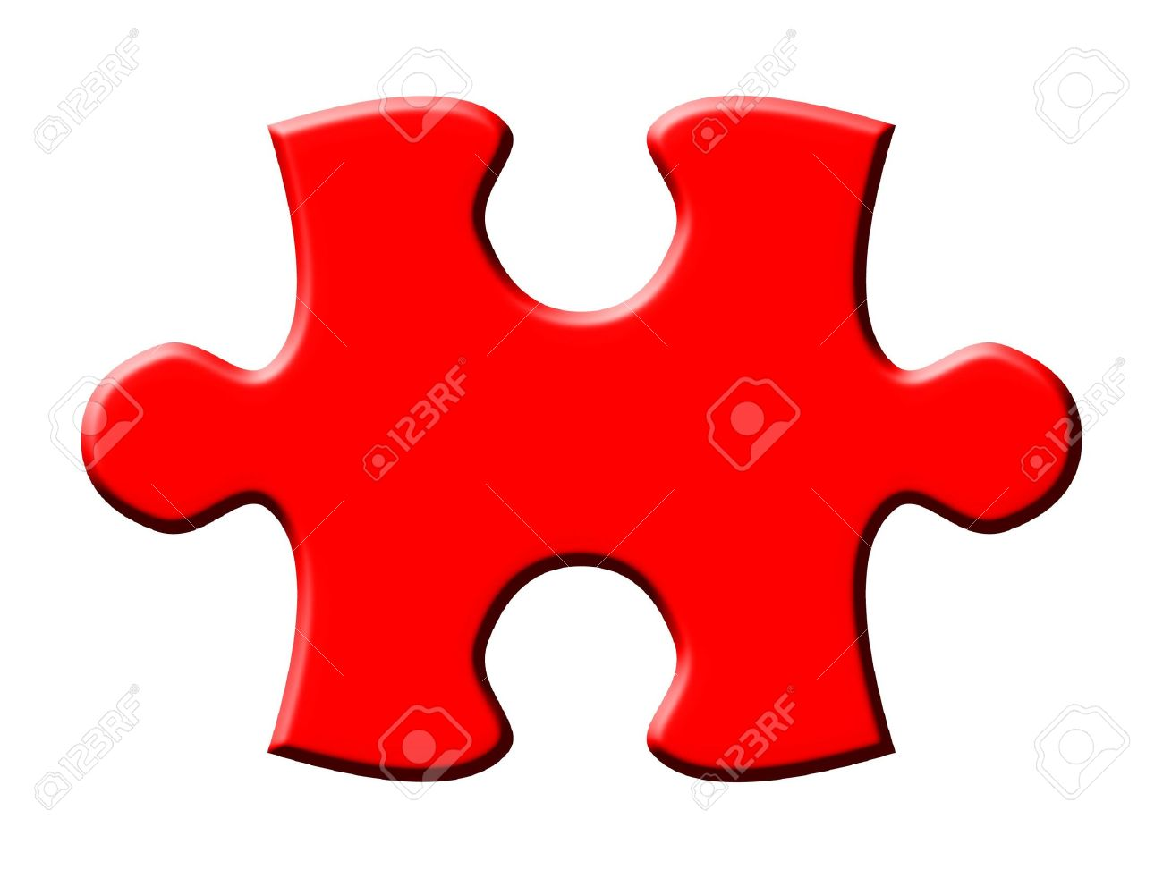 One Isolated Puzzle Piece Stock Photo, Picture And Royalty Free ...