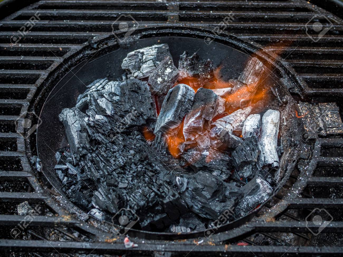 Starting Charcoal For Grill Cook Stock Photo Picture And Royalty Free Image Image 88123511