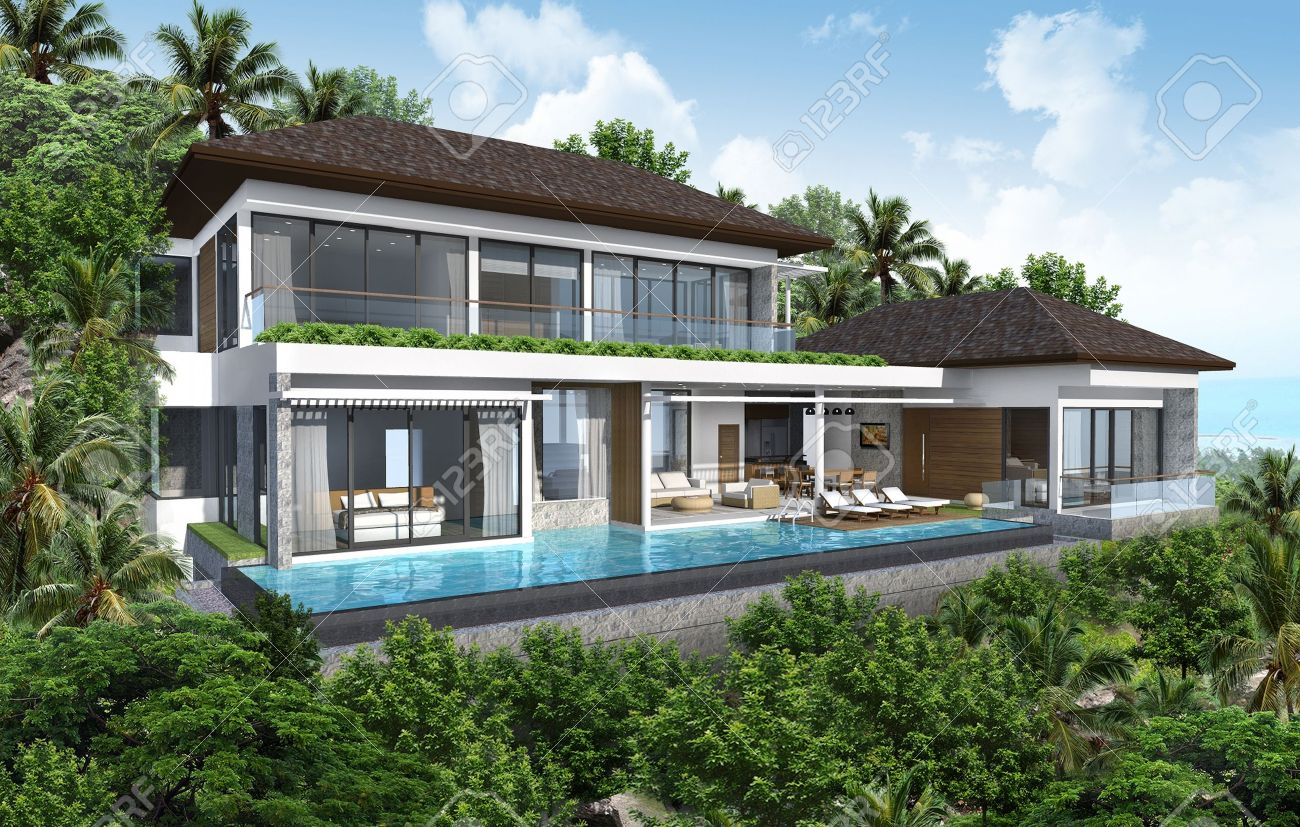Excellent Latest Maison Tropicale D Maison Tropicale Moderne With Plan  Maison Tropicale Gratuit With Plan Maison Tropicale Gratuit.