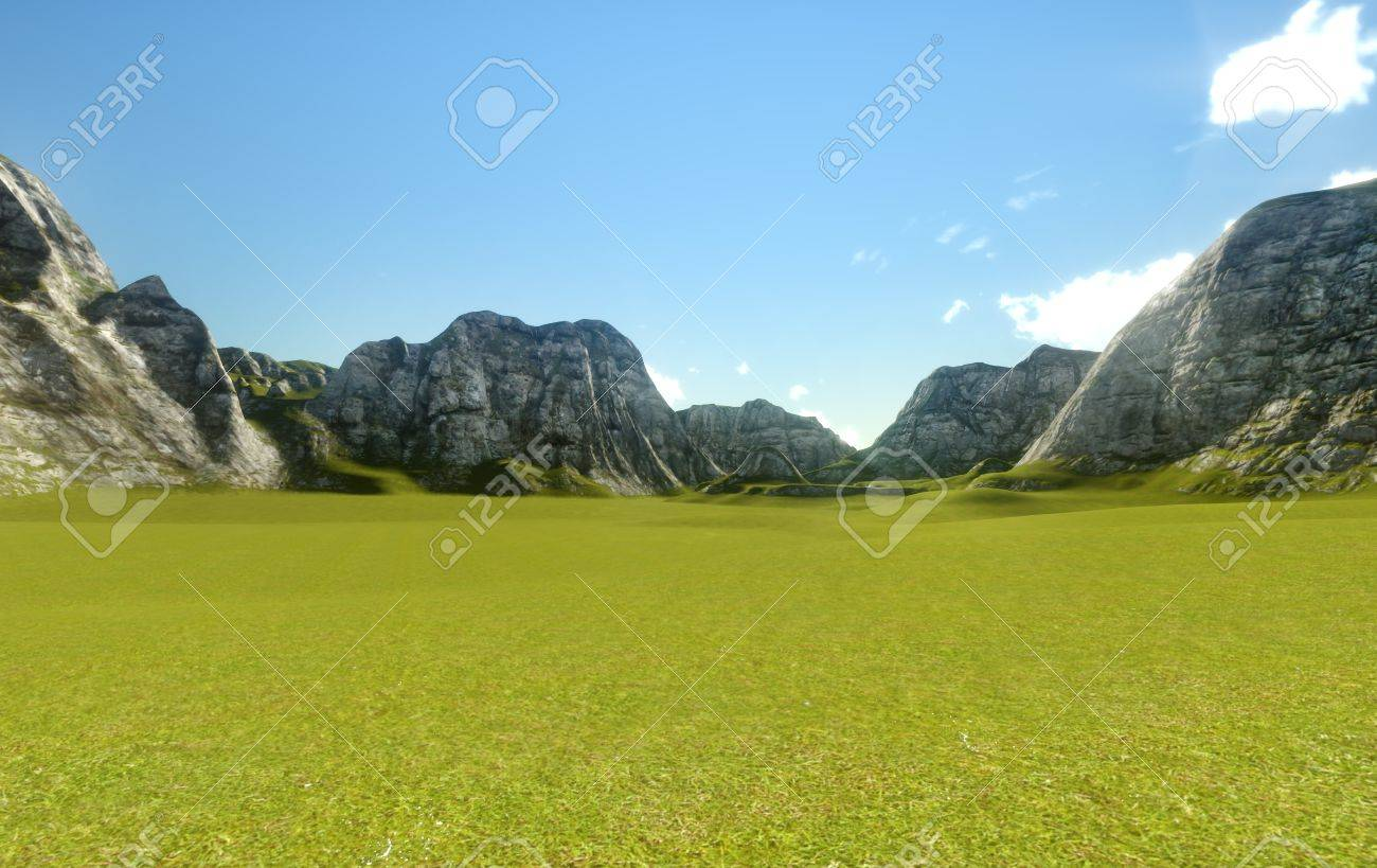 3d Background Nature Stock Photo, Picture And Royalty Free Image