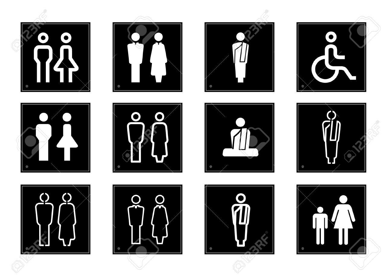 Toilet Symbols Illustration Royalty Free Cliparts Vectors And