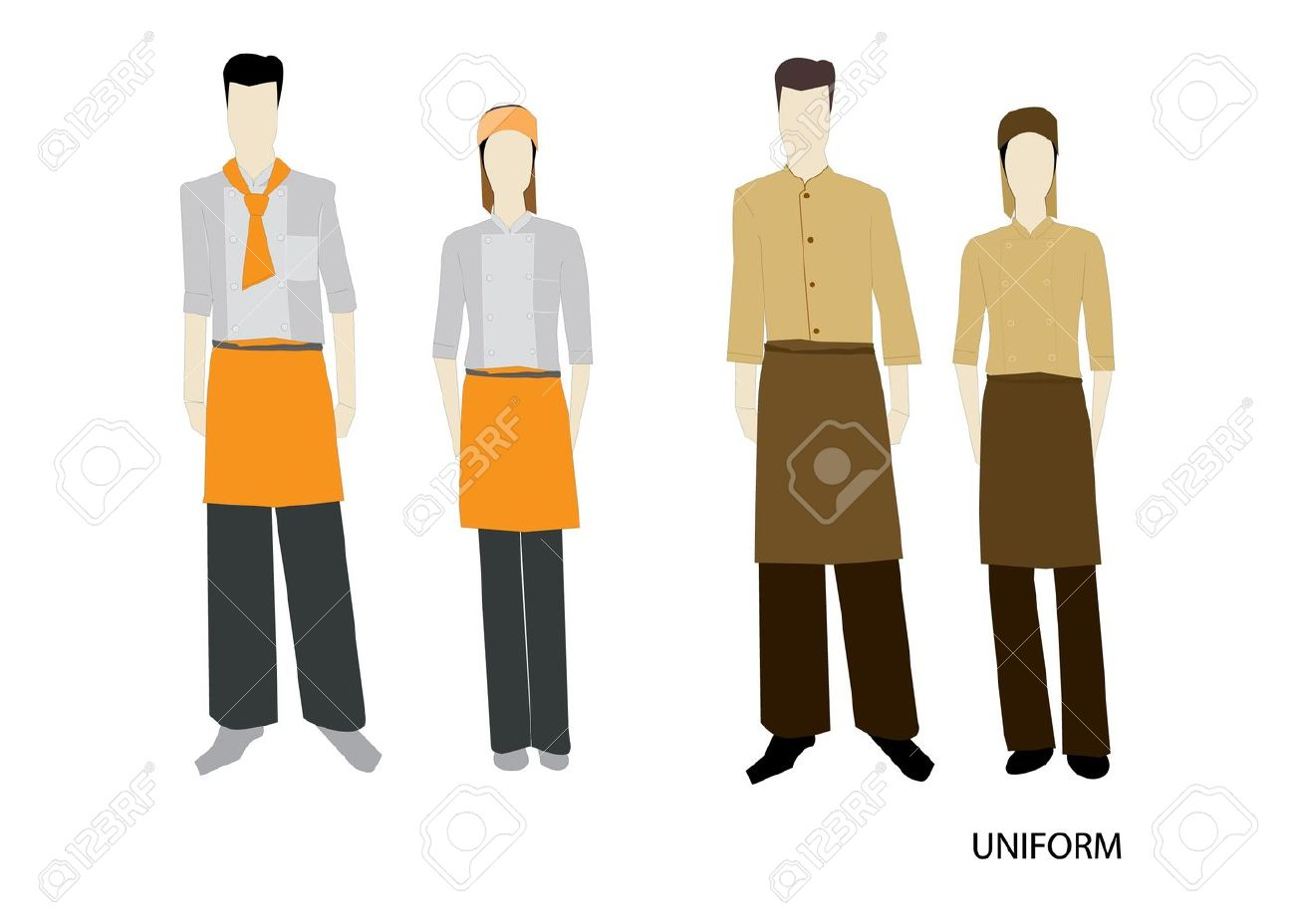 The Uniform complete set Isolated over white background Stock Vector - 17102910