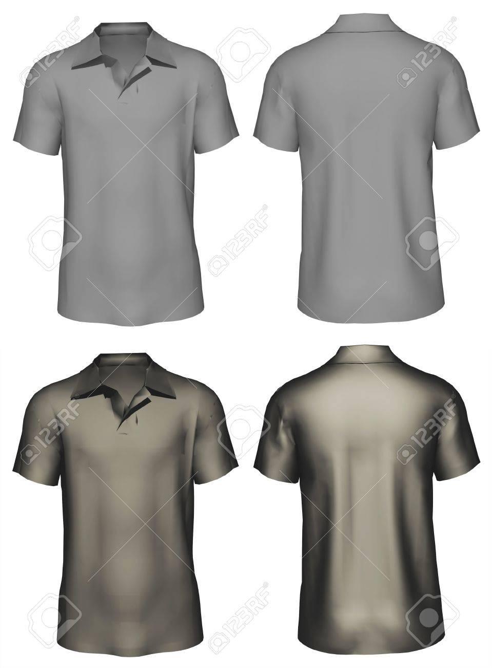 3d Men S T Shirt Design Template Front Back Stock Photo Picture