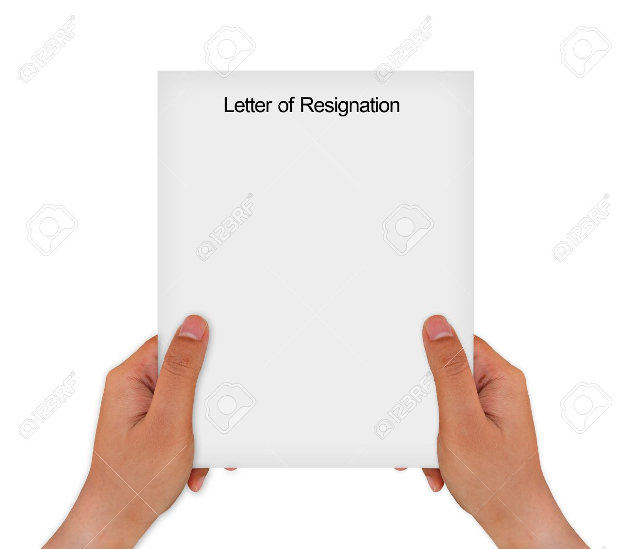 hand holding resignation letter resign quit leave your old job stock photo