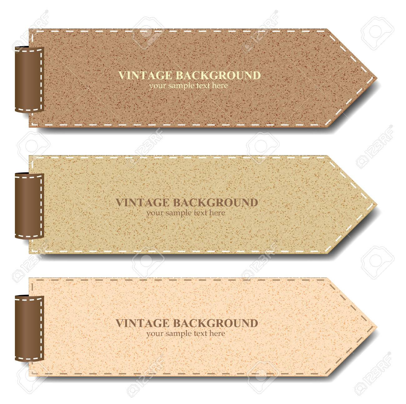 Vintage Paper Set For Banner Or Product Promotion - Vector ...