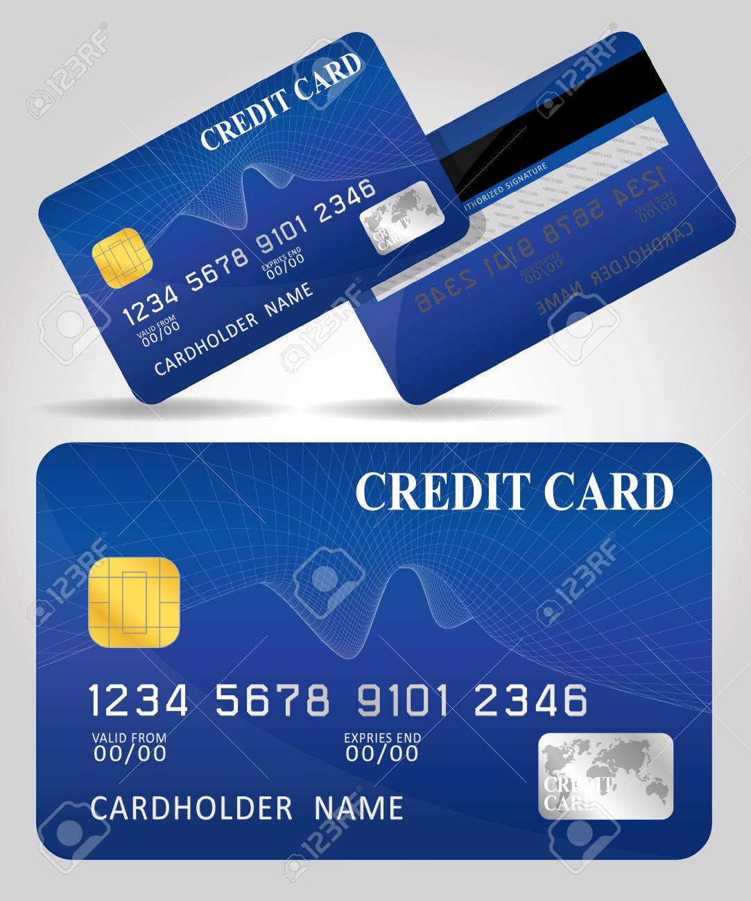Vector illustration of detailed glossy credit card isolated on vector vector illustration of detailed glossy credit card isolated on white background reheart Images