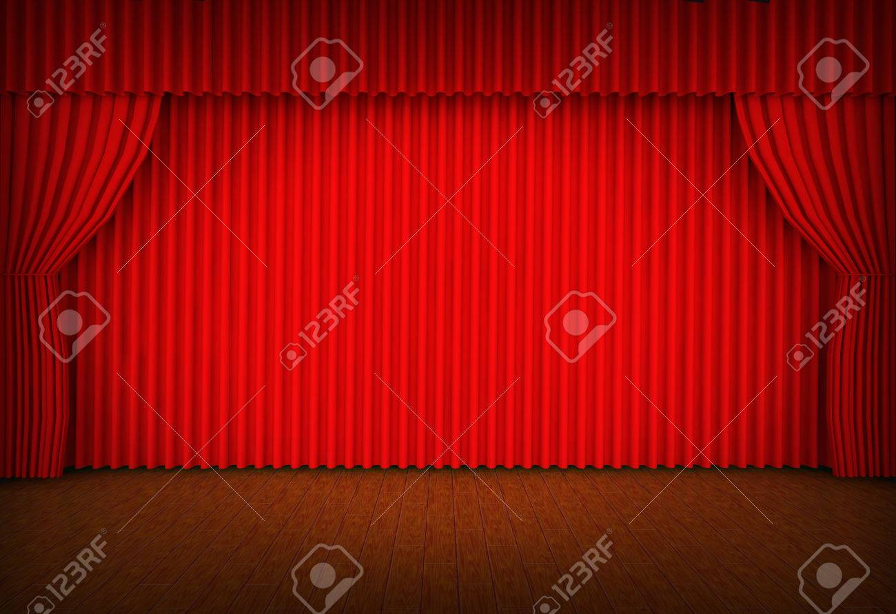 Red curtains with spotlight - Theater Stage Red Curtains Show Spotlight Stock Photo 25406518