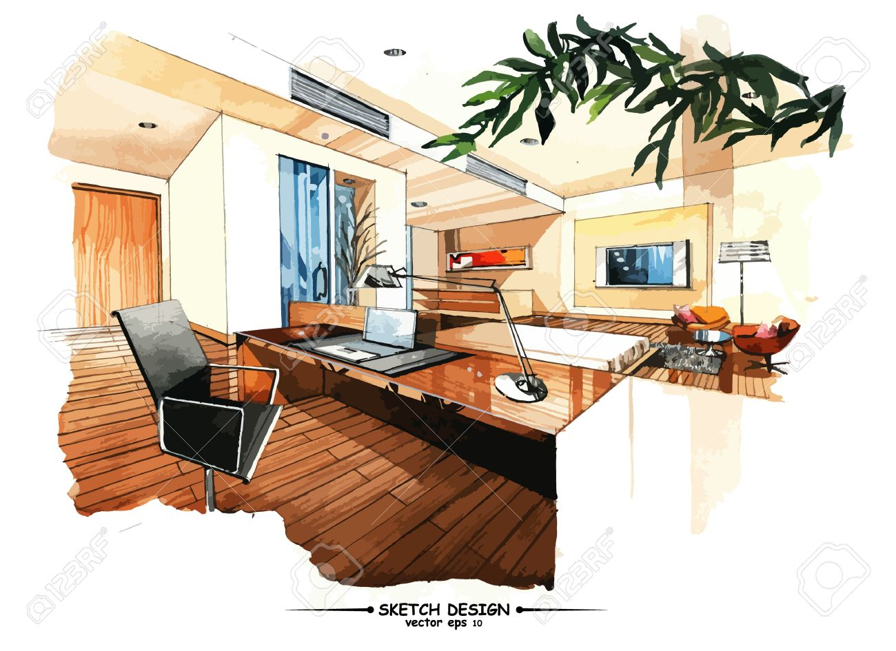Modern House Sketch Images & Stock Pictures. oyalty Free Modern ... - ^