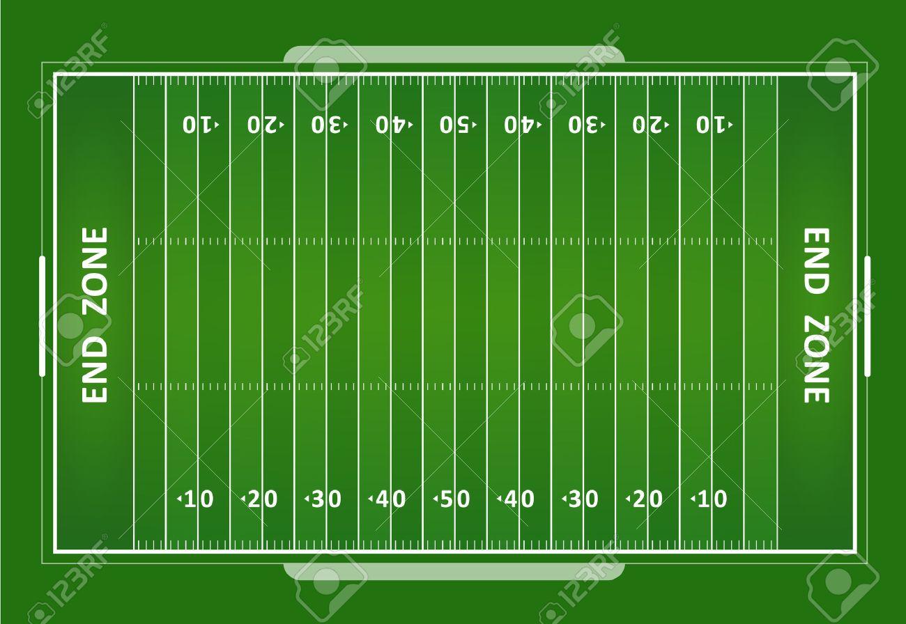 A vector grass textured American football field. EPS 10. - 45573478