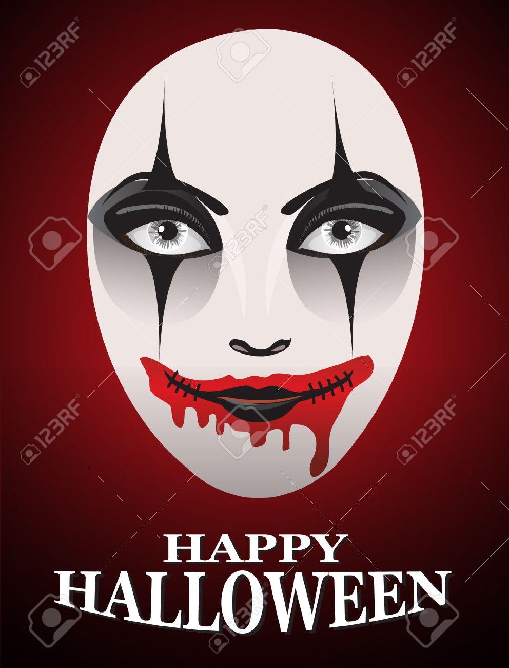 Frau Am Tag Der Toten Schablone Geist Gesicht Art And Dunkle