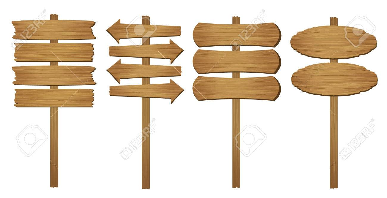 Wood board. Vector illustration. - 54079761