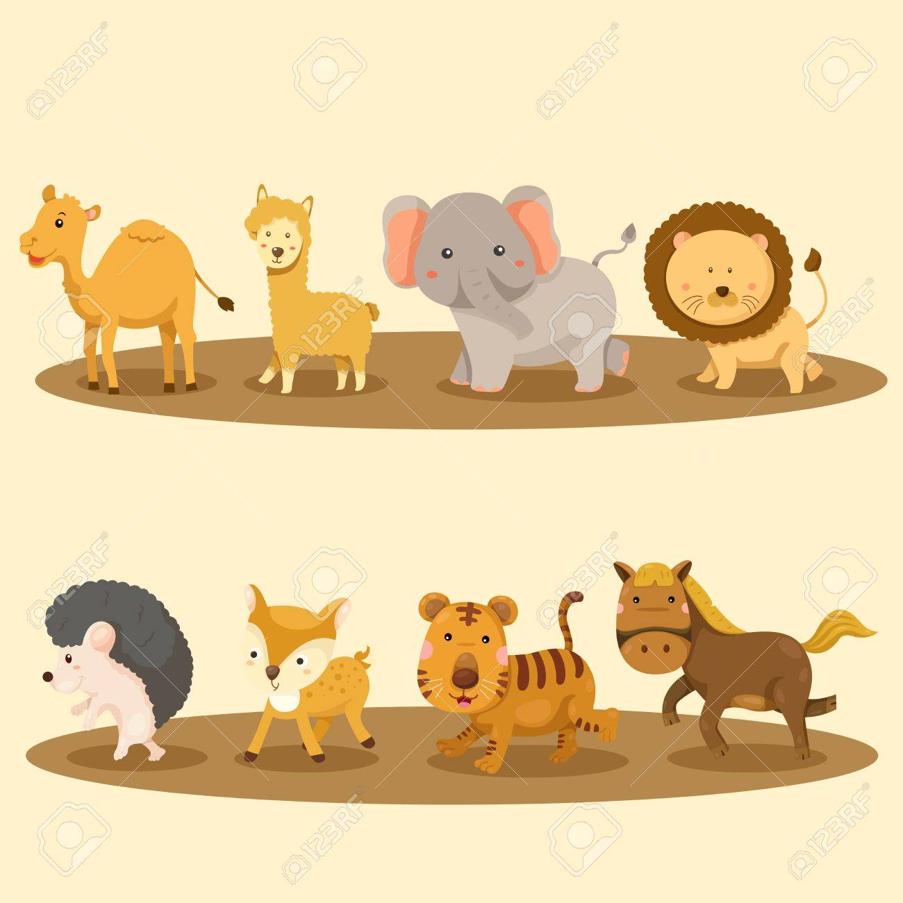 illustrator of zoo animals royalty free cliparts vectors and