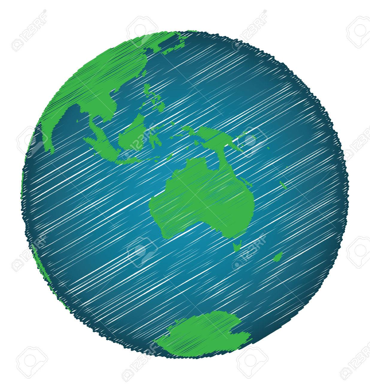 Earth sketch hand draw focus australia continent credit world earth sketch hand draw focus australia continent credit world map of nasa stock vector gumiabroncs Gallery