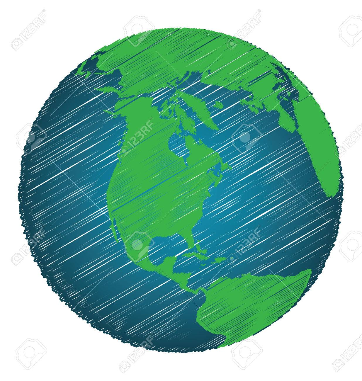 Earth sketch hand draw focus north america continent credit earth sketch hand draw focus north america continent credit world map of nasa stock vector gumiabroncs