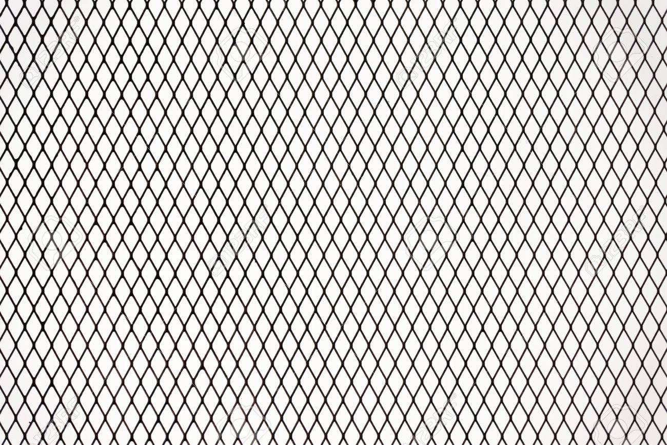 Industrial Metal Wire Net Fence Texture Isolated On White Background ...
