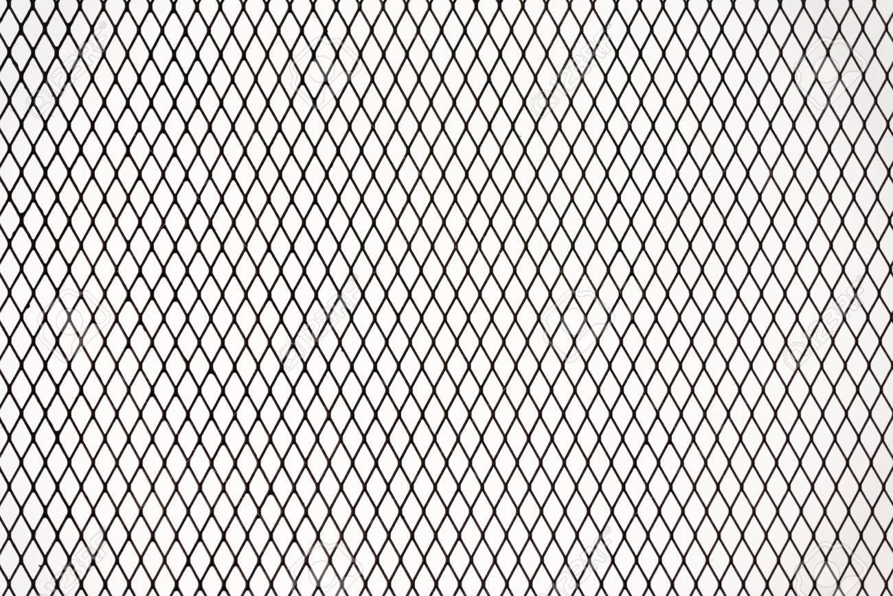 Industrie Metall Draht Netz Zaun Textur Isoliert Auf Weissem