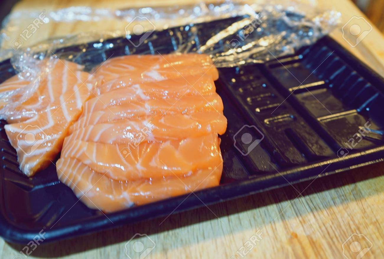 Preparing Cook Salmon Raw Sashimi Stock Photo Picture And Royalty