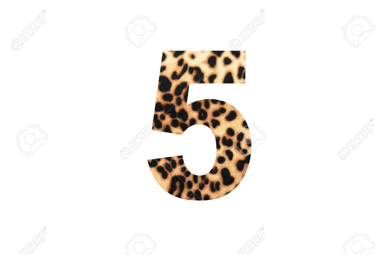 Zahl Nummer Number 5 Mandala Muster Spiralen Bunt 7