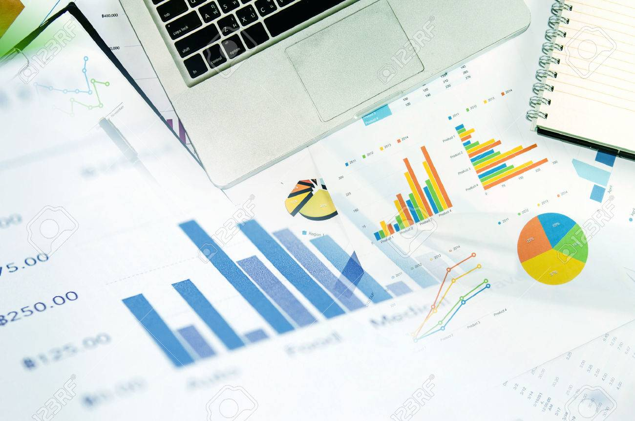 Financial graphs analysis and pen.Business Concept - 51519827