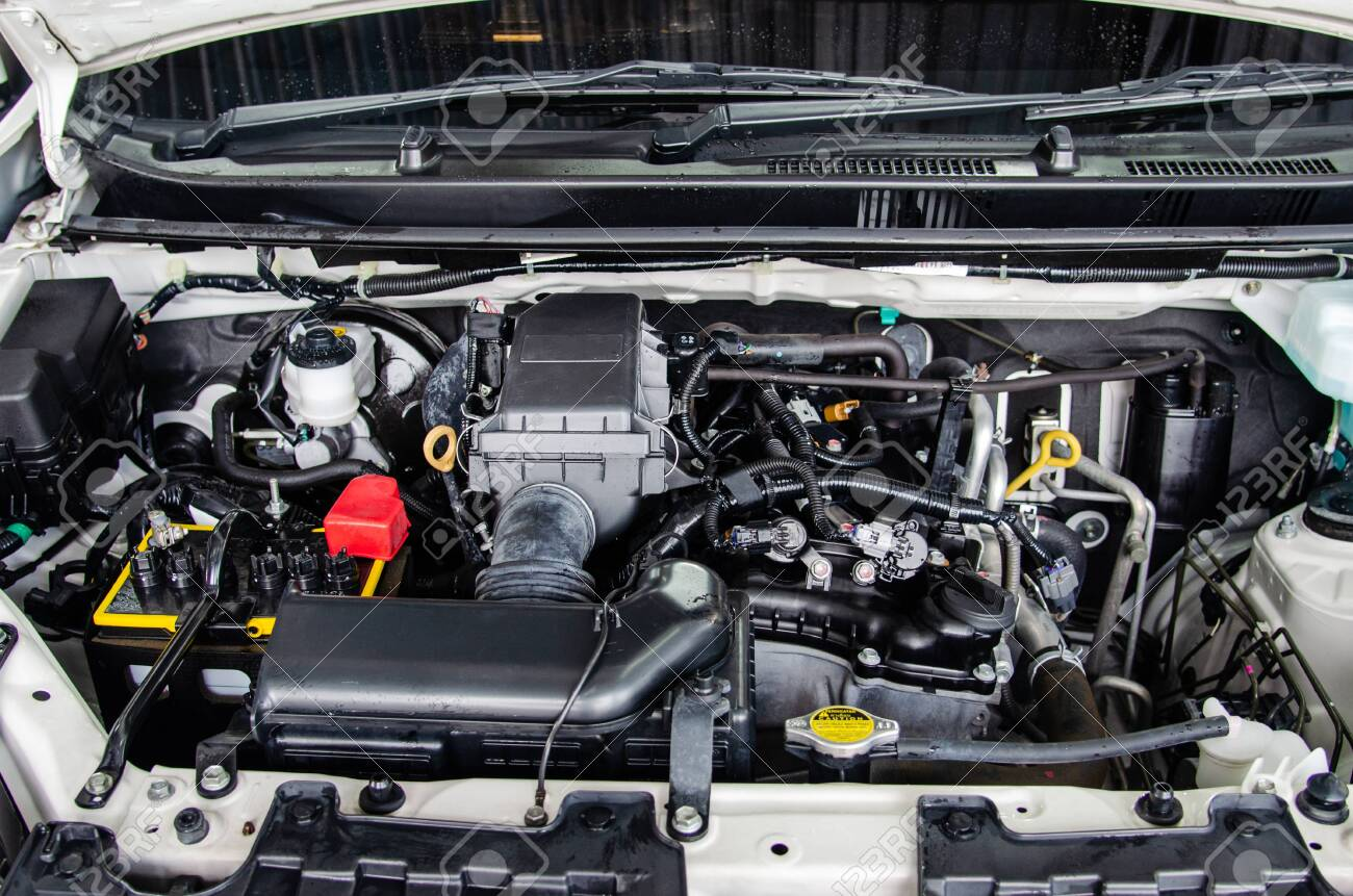 Close up detail engine cars. - 136434188