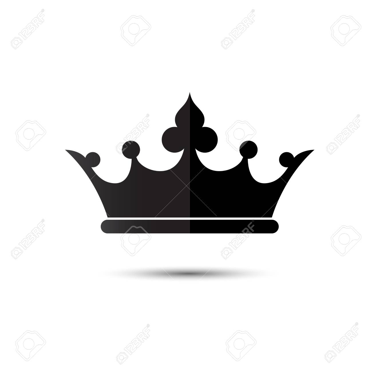 Crown Symbol With Black Color Isolate On White Background Vector