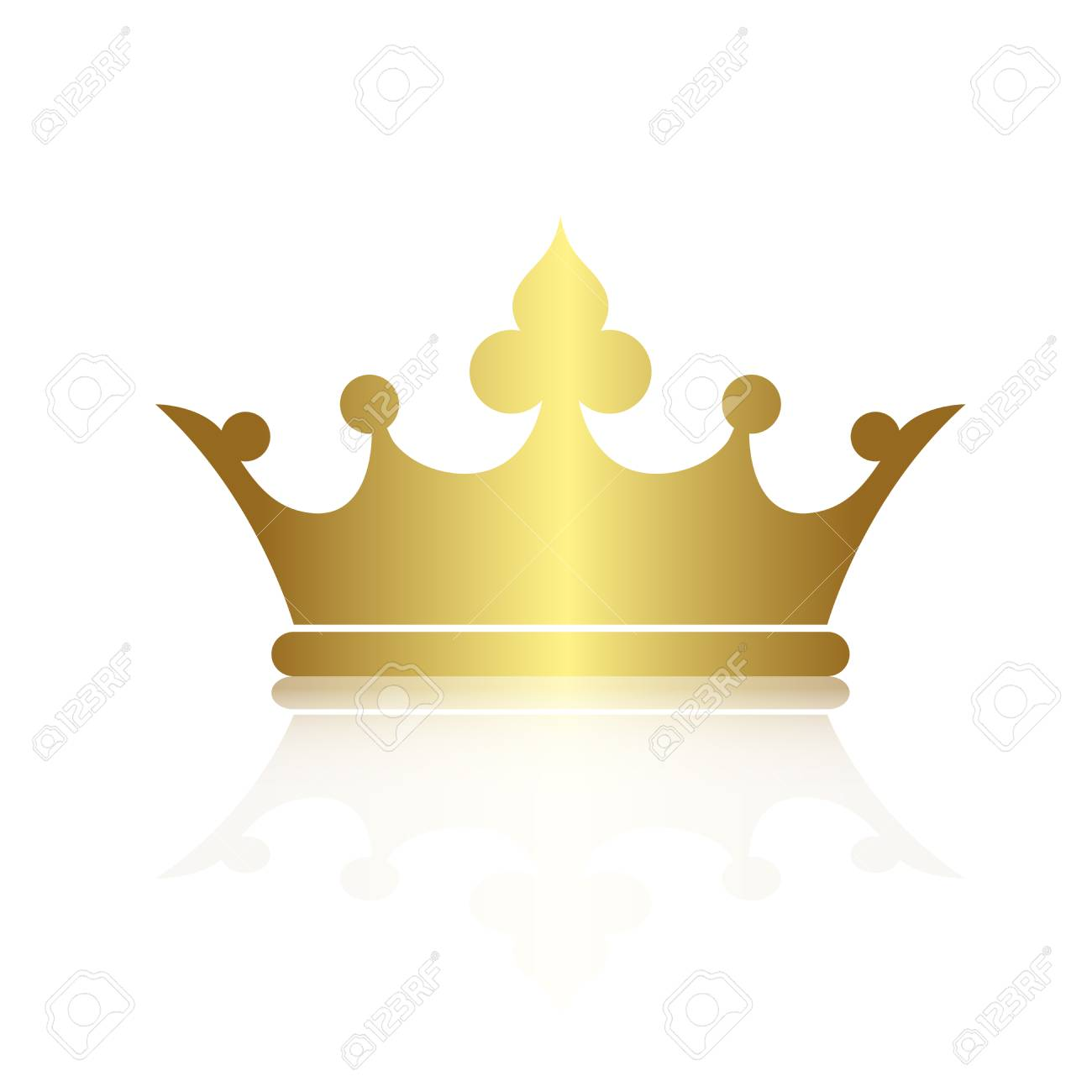 crown symbol with gold color isolate on white background vector rh 123rf com free vector crown logo free vector crown icon