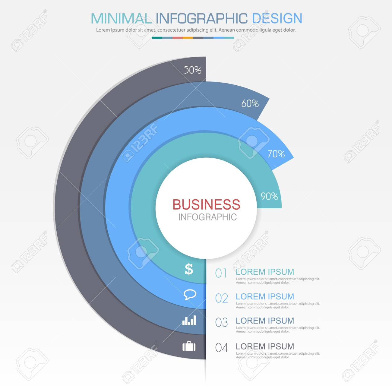 Circle infographic elements with business icon on full color circle infographic elements with business icon on full color background circle process or steps and options ccuart Choice Image