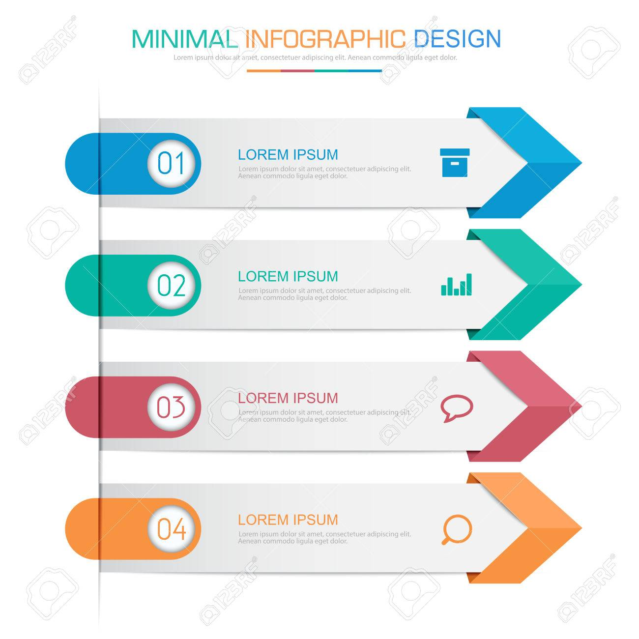 Infographic elements with business icon on full color background infographic elements with business icon on full color background circle process or steps and options workflow ccuart Choice Image