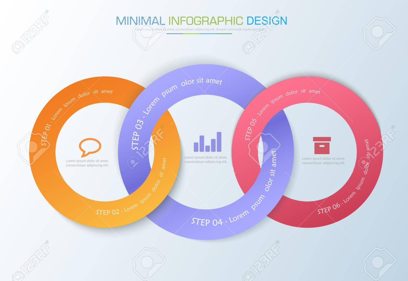 Infographic elements with business icon on full color process infographic elements with business icon on full color process or steps and options workflow diagrams ccuart Image collections
